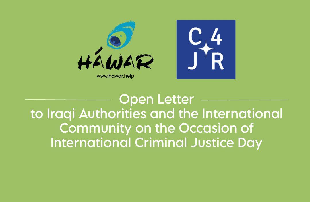 C4JR: Open Letter to Iraqi Authorities